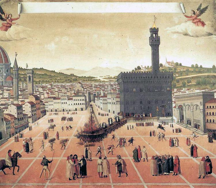 Girolamo Savonarola was burnt at the stake