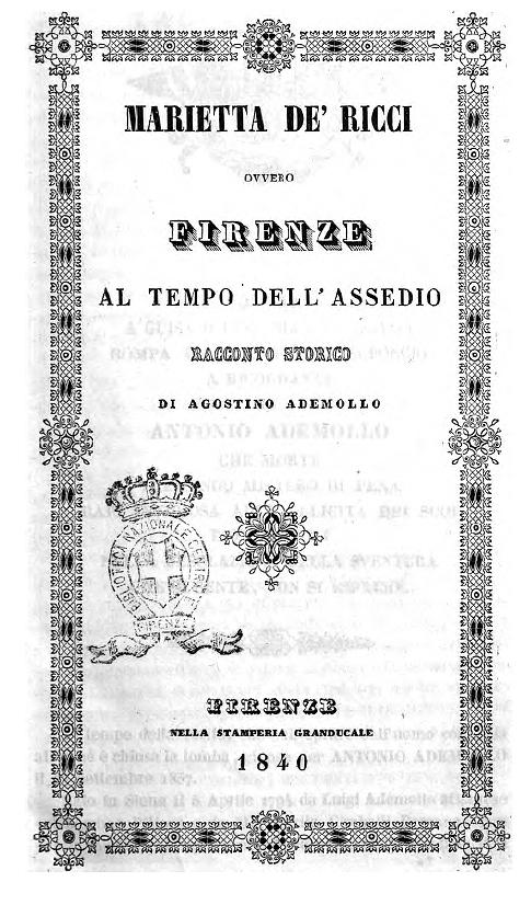 Marietta de' Ricci di Agostino Ademollo