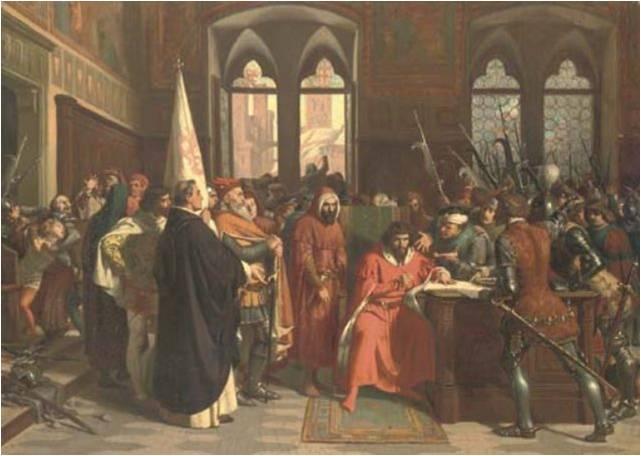 Stefano Ussi, La cacciata del Duca d'Atene, 1859-1861, Roma Galleria nazionale d'arte moderna