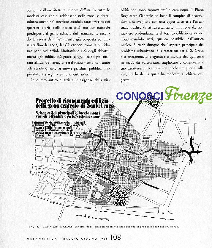 Piano di risanamento della zona di Santa Croce 1935/1938