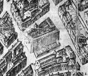 Particolare mappa del Buonsignori del 1584 con le Stince e gli abbeveratoi