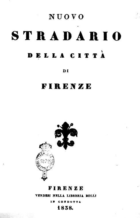 Nuovo stradario del 1838