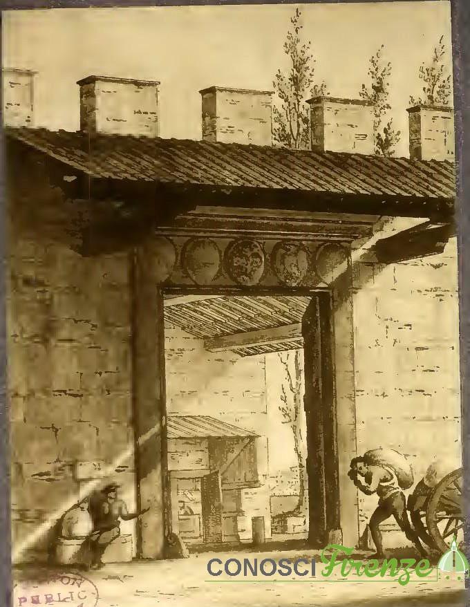 Porticciuola d'Arno. Sorgeva quasi di fronte a Piazza delle Travi, piazza mentana