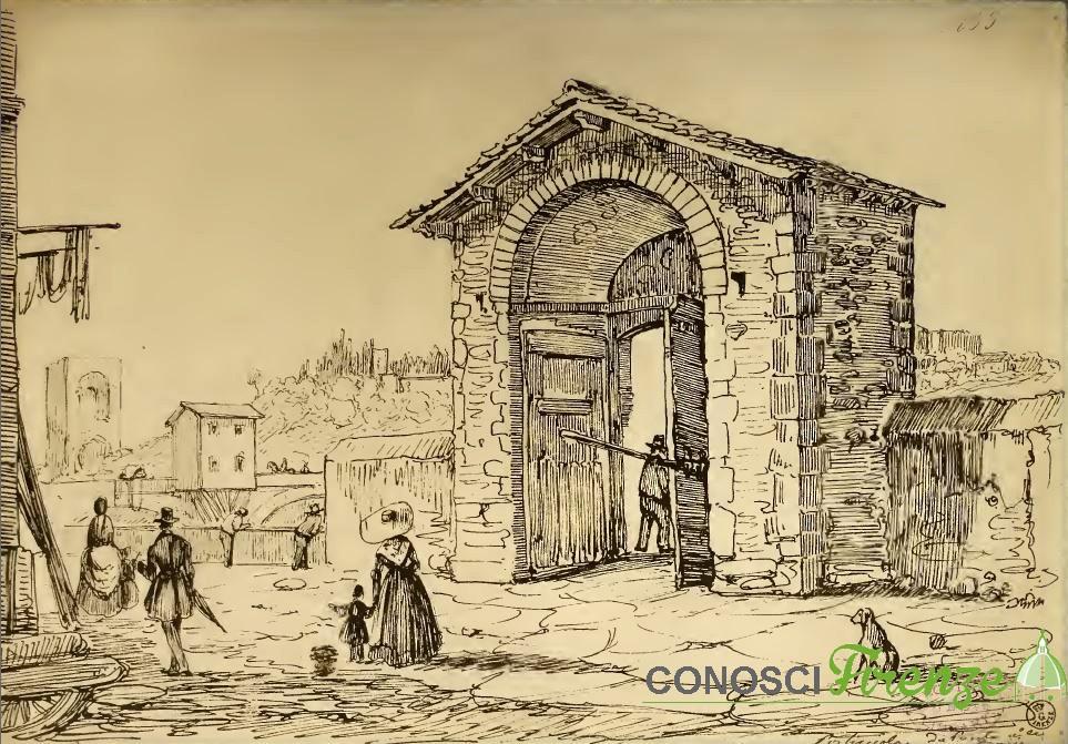 Porticciuola d'Arno, vista da Piazza delle Travi,