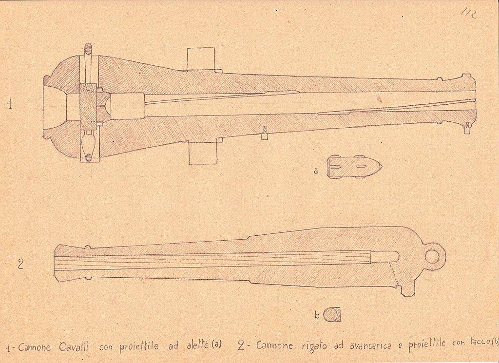 Cannone a carica dalla culatta del Generale Caselli