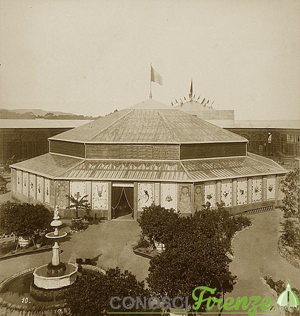 Esposizione italiana del 1861 la struttura esterna della serra dei fiori
