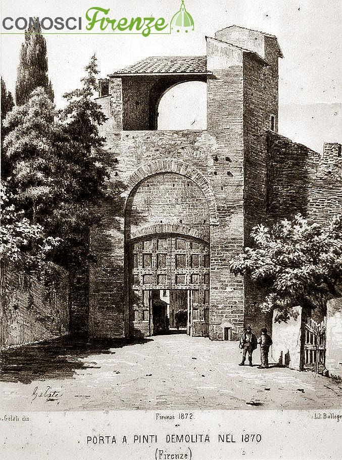 Porta a Pinti, buttata giù nel 1870.