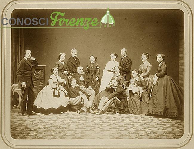 1875 foto di gruppo di famiglia