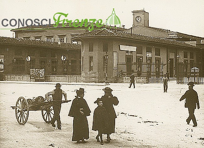 La Stazione Maria Antonia progettata da Enrico Presenti (sul luogo dove sorgerà la nuova Stazione di Santa Maria Novella), Firenze