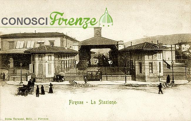 L'antica stazione centrale di Porta al Prato (detta anche Leopolda) a Firenze. Oggi la stazione dismessa è sede espositiva, 1904