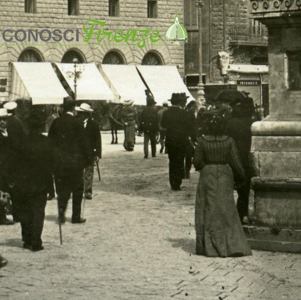 Piazza della Signoria nel 1912