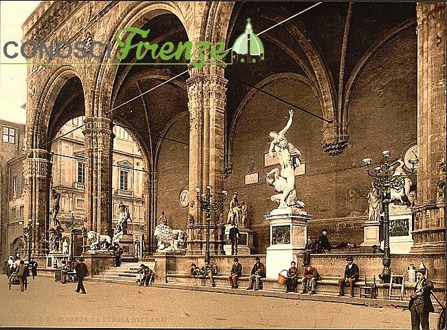 Loggia dei Lanzi 1880 circa