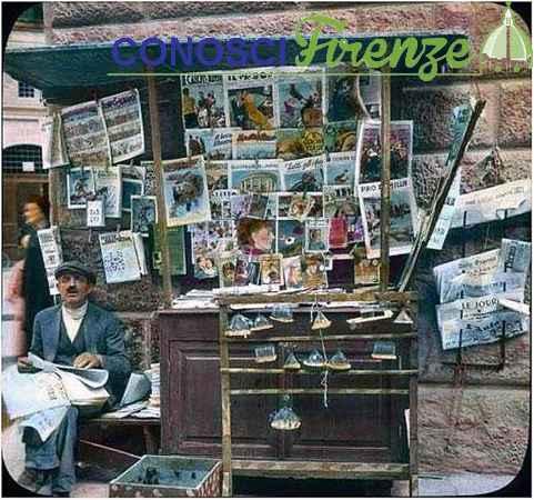 Venditore di Grilli dipinta a mano su lastra di vetro da Branson DeCou anni 30