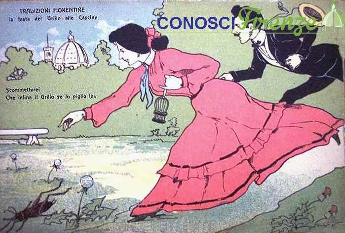 Vignetta umoristica per la festa del Grillo