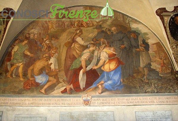 Bernardino Poccetti, San Filippo Benizi converte due peccatrici