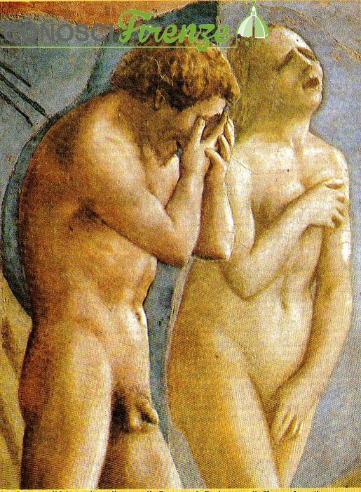 La cacciata di Adamo ed Eva dal Paradiso Cappella brancacci
