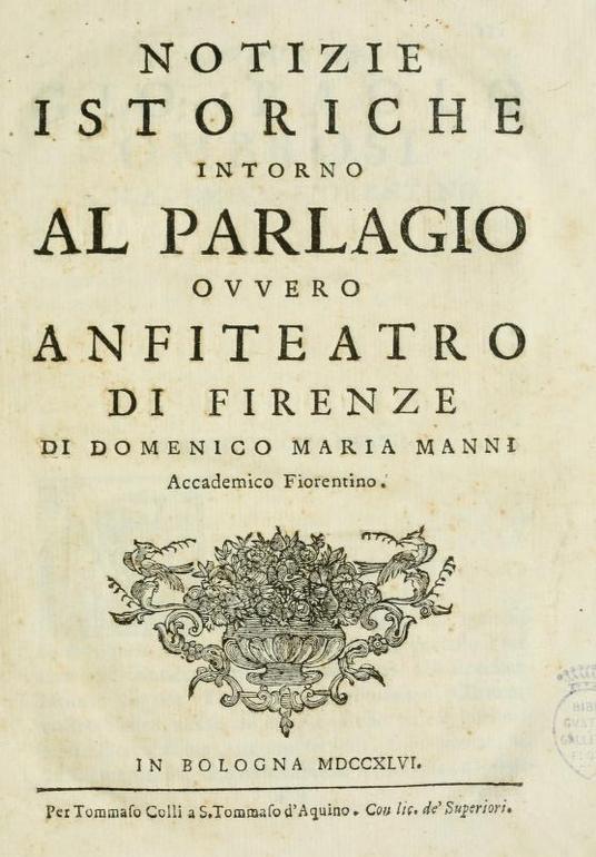 Notizie Istoriche del parlascio fiorentino