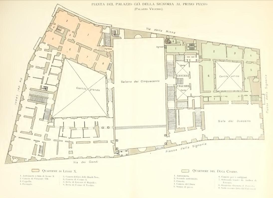 La Prima Reggia di Cosimo Primo de' Medici Nel palazzo  già della Signoria di Firenze
