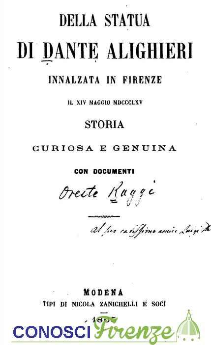 Storia curiosa sulla Statua di Dante Alighieri