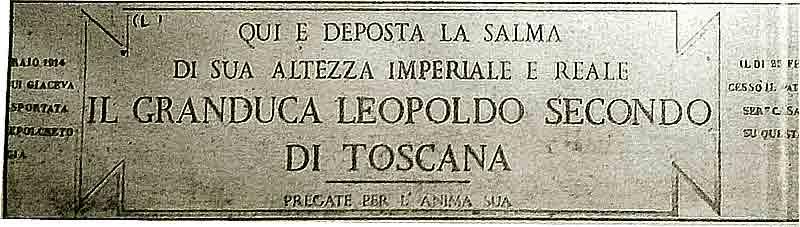 Lapide in Santa Maria degli Apostoli a Roma