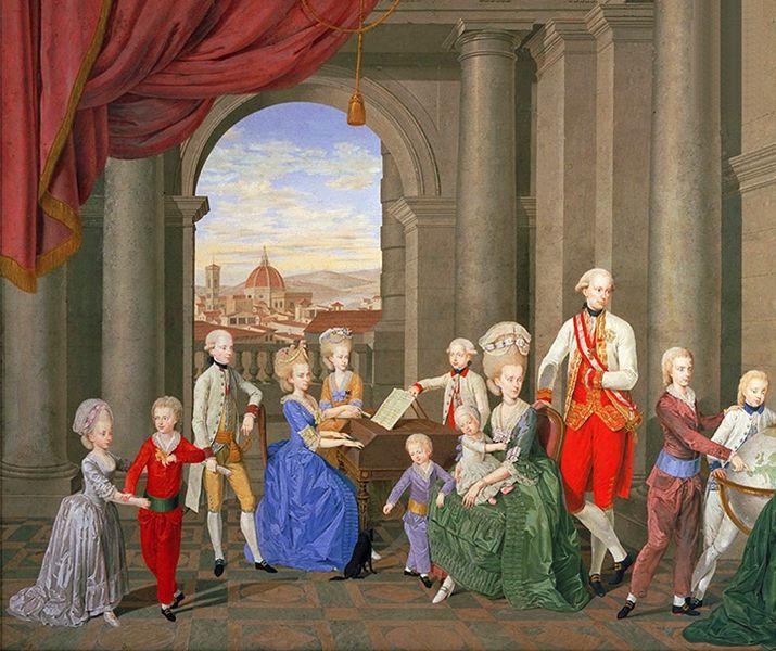 William Berczy, La famiglia di Pietro Leopoldo granduca di Toscana, 1781-82 ( Firenze, Galleria d'Arte Moderna).