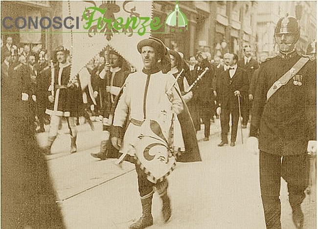 Corteo per la commemorazione della morte di Dante Alighieri nel 1921