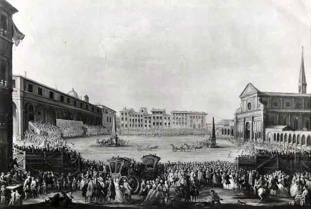 Corsa dei Cocchi in Piazza Santa Maria Novella