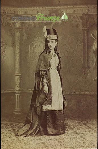 Costume del XIII secolo per corteggio del 1887