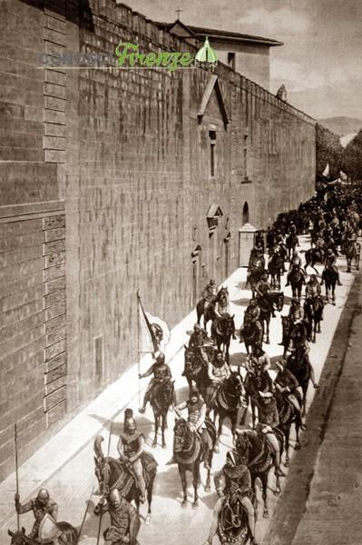 L'arrivo del Conte Verde ricostruzione del 1887
