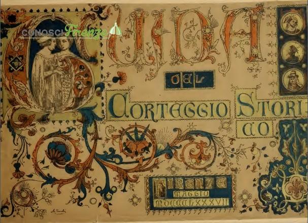 Libriccino edito dal comitato del corteggio del 1887