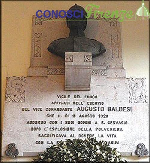 Lapide in onore del Comandante baldesi