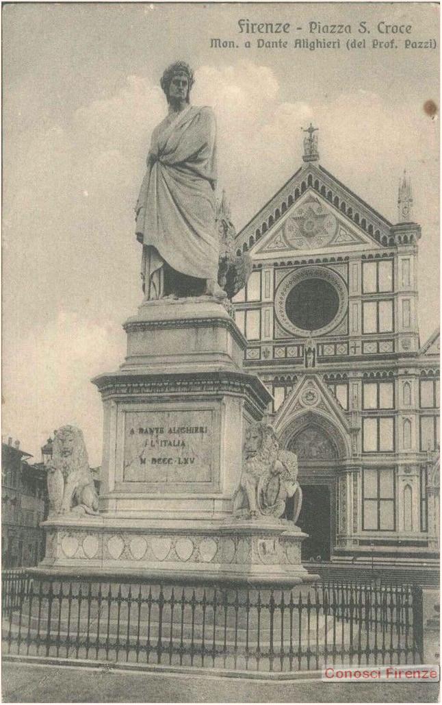 Statua di Dante in Piazza Santa croce