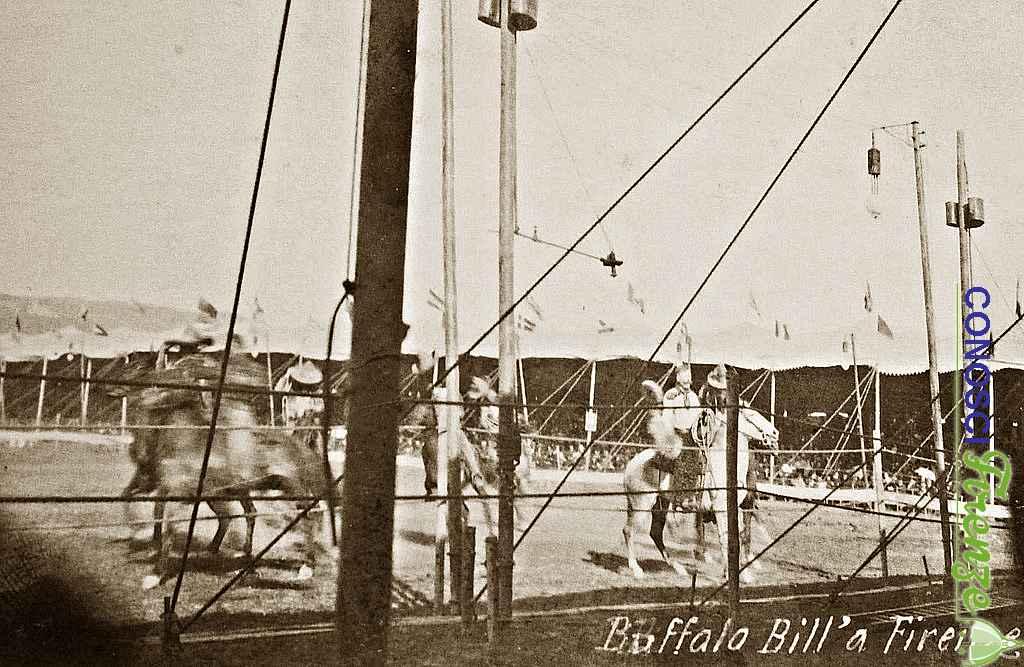 Buffalo Bill col suo spettacolo western