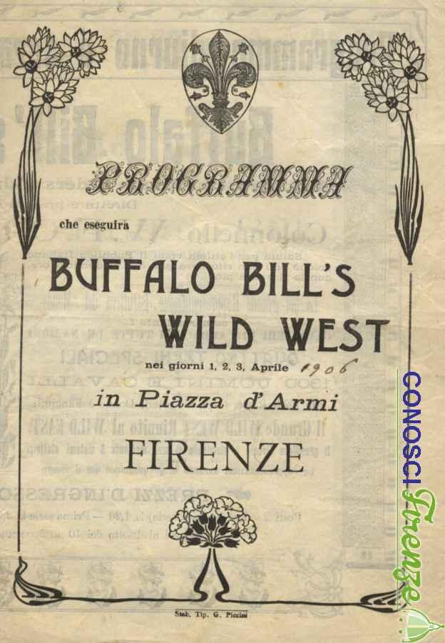 la scritta pubblicitaria Dacché sono in Italia perfino il colonnello Buffalo Bill ed i suoi luogotenenti bevono Cinciano perché è la migliore acqua minerale da tavola