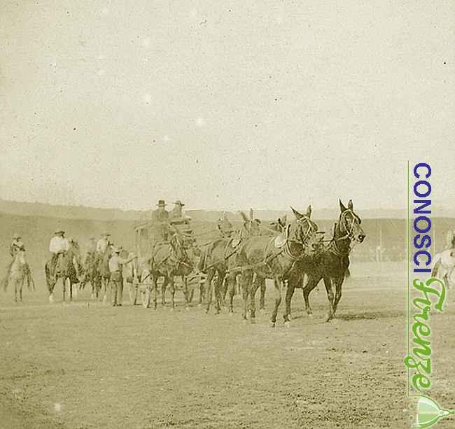 La danza di guerra di una tribù indiana, una scena dello spettacolo western West Wild Show di Buffalo Bill
