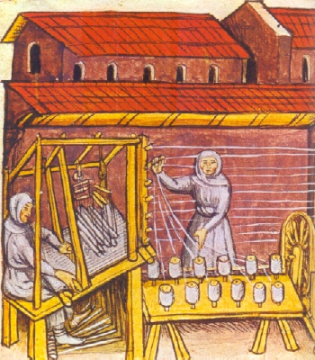 Lavorazione della lana nel medioevao