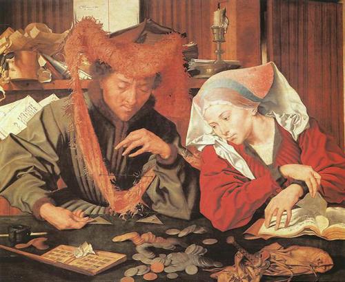 Il cambiavalute e sua moglie – 1539 Marinus van Reymerswaele