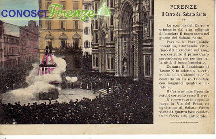 Scoppio del Carro in Piazza del Duomo