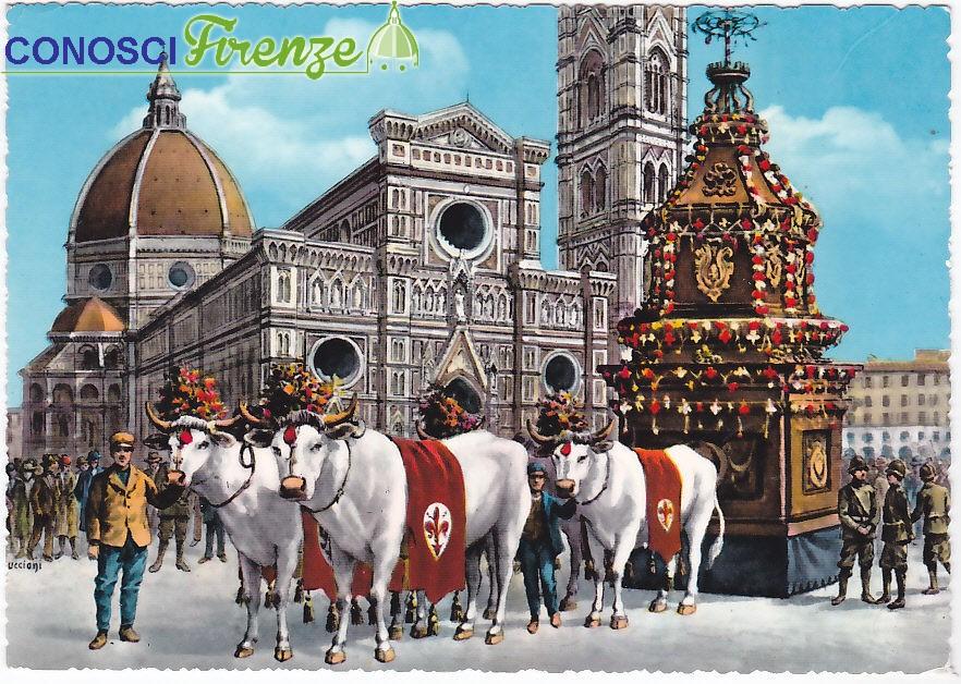 Scoppio del Carro Piazza del Duomo