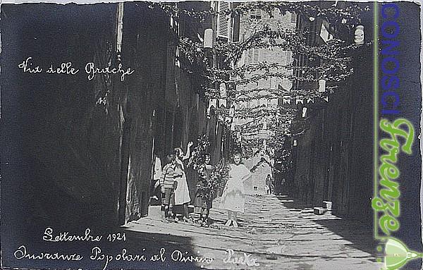 Addobbo del 1921 per commemorare il VI centenario della morte del poeta