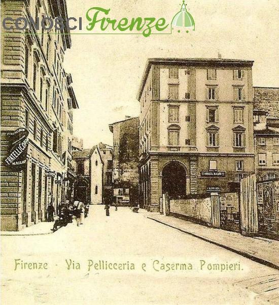 Via Pellicceria prima che vi costruissero i Portici 1870