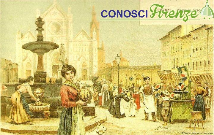 Cartolina di Piazza Santa Croce