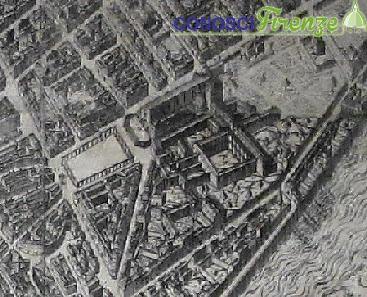Piazza Santa croce mappa Buonsignori