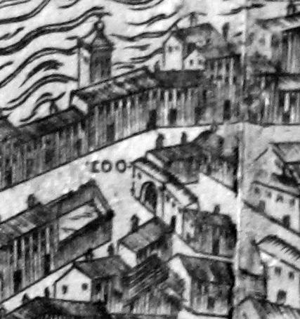 Mappa del Bonsignori e la Piazza Soprarno