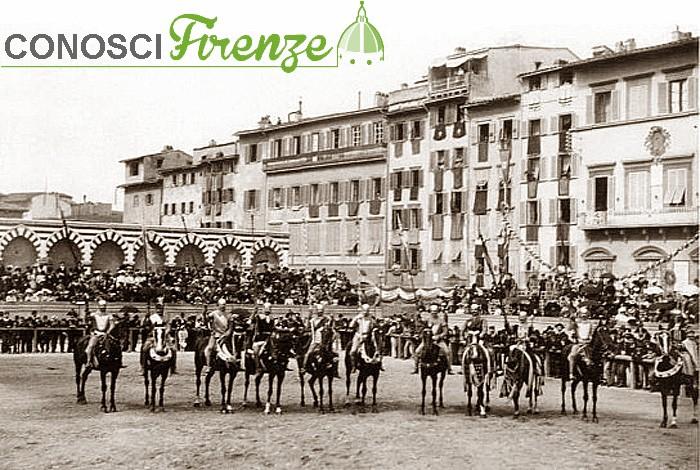 Figuranti in Piazza Santa Maria Novella nel 1902